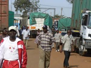 La frontera en Busia.