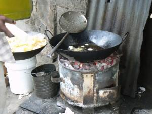 Cocina de carbón.