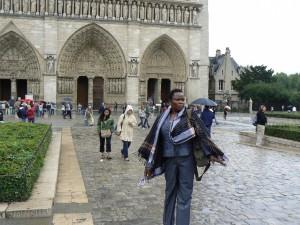 En la Plaza de Notre Dame.