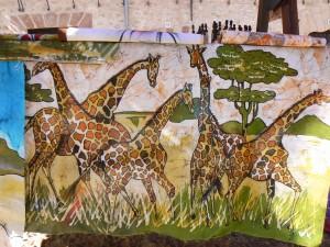 Escena de jirafas.