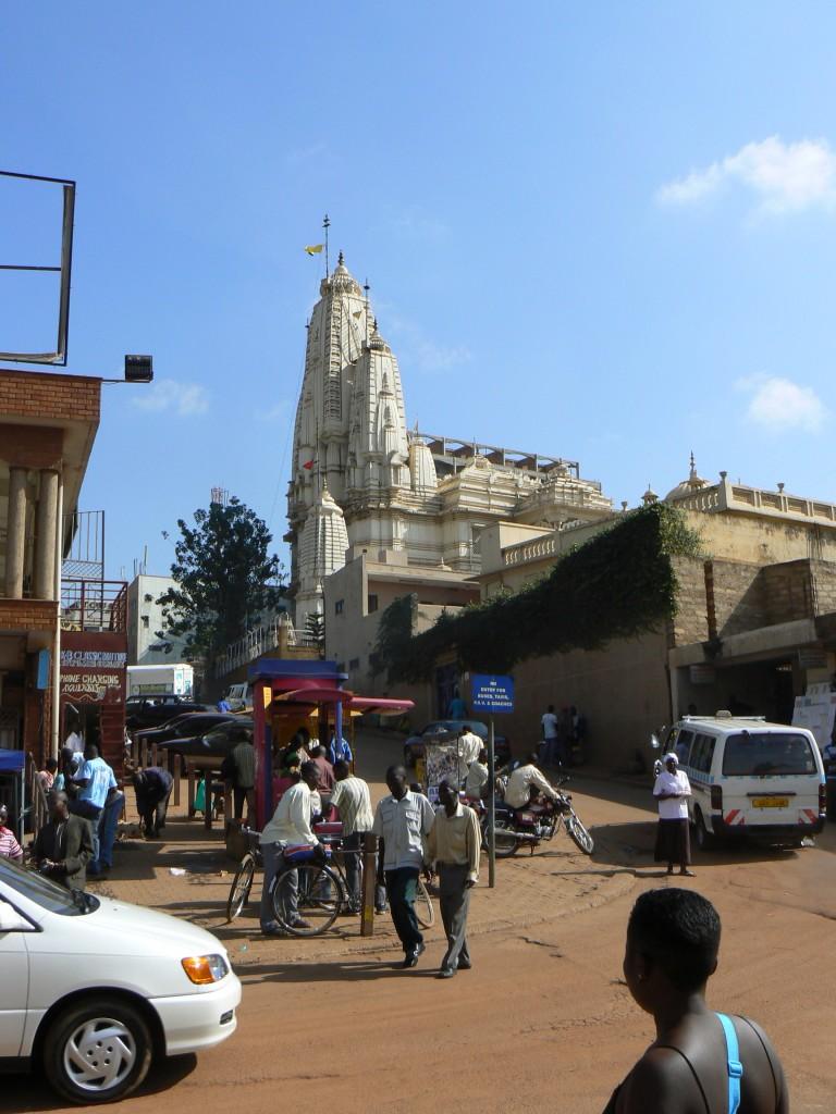 Iglesia  indú en Kampala Town.